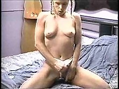 Pigtailed young blonde has 69 and sex