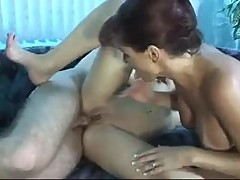 Teen learns from redhead how to love cock