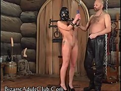 Vicious ass spank assault bondage male on female