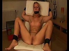 Young blonde bound, gagged and fucked