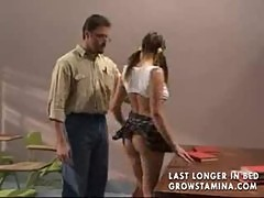 Hot schoolgirl gets punished for cheating part1