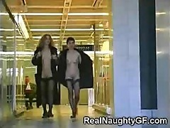 Amateurish Pussy Teasing From Crazy Girl That Loves To Get Naked In Airport