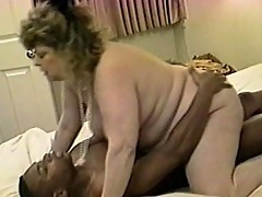 Grandma humps over a young Black dick