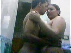 Indian bbw aunty fucking with younger boy in..