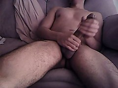Big dick handjob