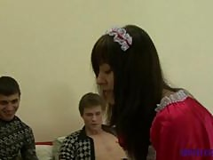 Tim Vitalik and Veronika Teens Threesome Fun