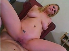 Nikki Blaze riding anal and swallows