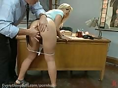 Tara takes humiliating enema from nurse, ass fucked by professor