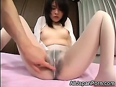 Japanese in White Pantyhose!