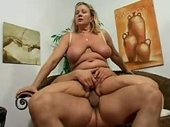 Curvy and horny blonde mature fucked lustily
