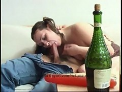 Young girl fucks a drunk old man