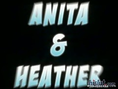 Heather and Anita are on their knees