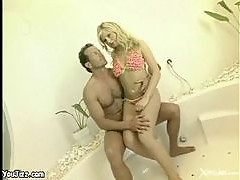 Young Kathy fucked in bath tub