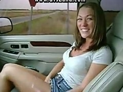 Fun and masturbating in the car