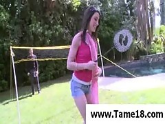 Teen Janie Jones gets punished outdoors
