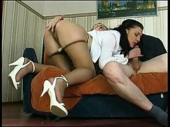 His secretary takes his hard cock