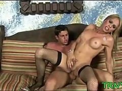 Teen tranny has a jolly assride