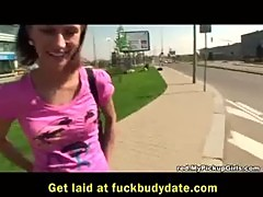 Skinny pickup chick taken public