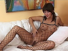 Busty in body stocking
