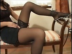 Teen strips & plays with dildo