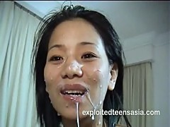 Samantha Filipino Amateur Teen Gets Face Full Of Jizz
