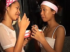 Saori & Saya Thai teens lick ice-cream titty thaigirltia.com