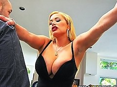 Busty cheating wife Shyla Stylez is fucked anal while hubby watch