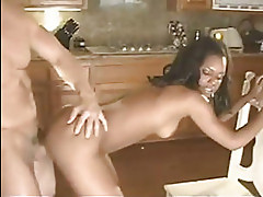 Ebony kitchen workout