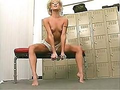 This Blonde Wants The Full Workout Complete With Green Dildo